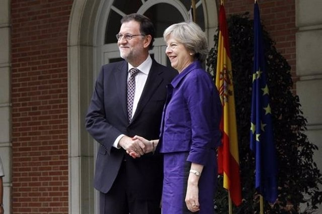 Mariano Rajoy se reúne con Theresa May en Moncloa