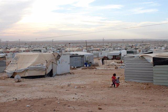Campamento de refugiados de Al Zaatari, en Jordania