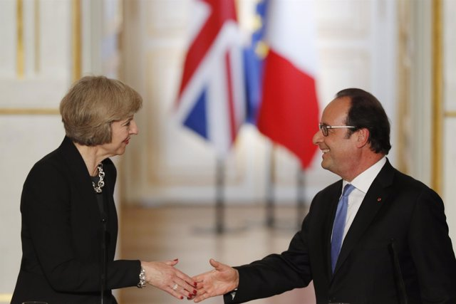 Theresa May y François Hollande