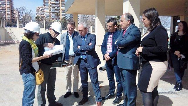 Visita obras CEIP Mediterráneo de Algeciras