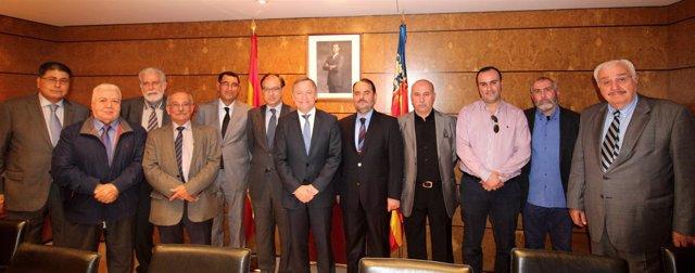 El delegado del Ejecutivo ha recibido a varios portavoces de las federaciones