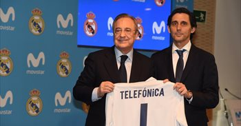 """Real Madrid y Telefónica se unen para """"conectar"""" a todos los aficionados..."""