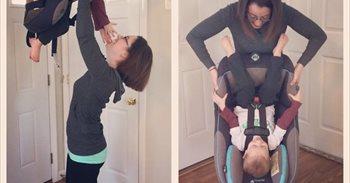 Las fotografías de esta madre se han hecho virales en Facebook por una...