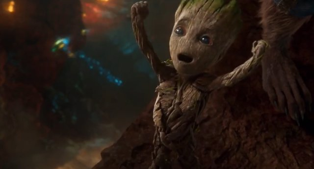 Baby Groot en Guardianes de la Galaxia Vol.2