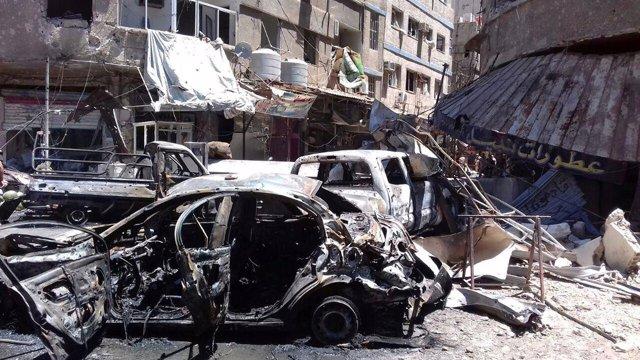 Atentado en un barrio chií del sur de Damasco