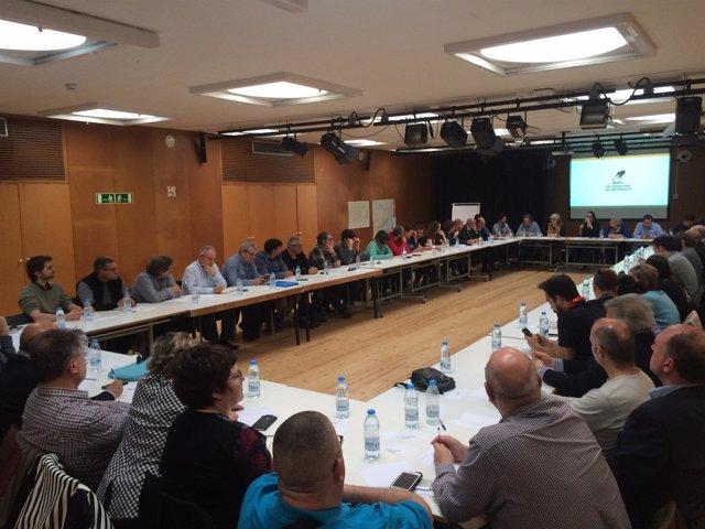 Reunión del Pacte Nacional pel Referèndum en la Barceloneta