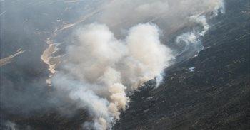 Activos seis incendios forestales en Cantabria