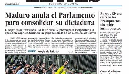 Las portadas de los periódicos de hoy, viernes 31 de marzo de 2017