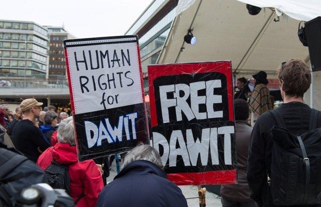 Manifestación en Suecia por la liberación de Dawit Isaak