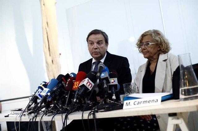 Manuela Carmena y Antonio Miguel Carmona