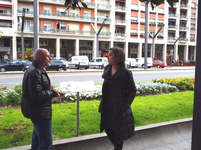 Gamarra y Ruiz Tutor, ante el parterre