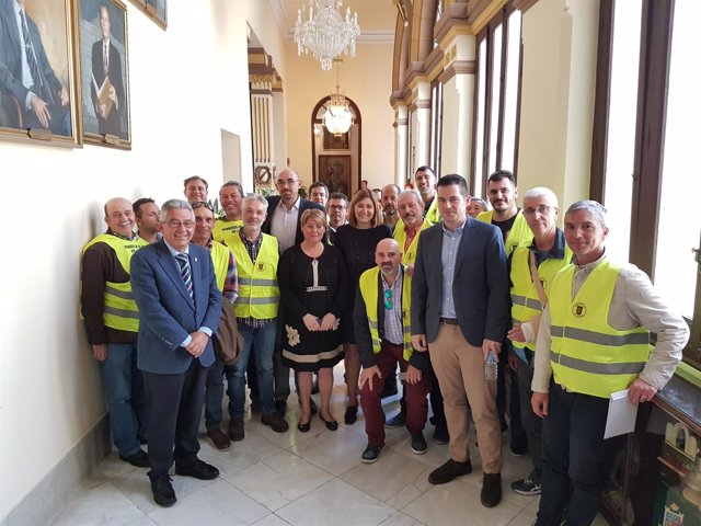 Bomberos de Málaga con la oposición en el Ayutamiento