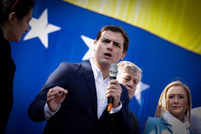 Albert Rivera en el acto homenaje del opositor venezolano Leopoldo López