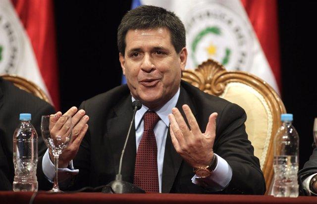 El presidente de Paraguay, Horacio Cartes