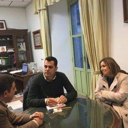 Visita del presidente de la Diputación de Jaén a Santisteban del Puerto