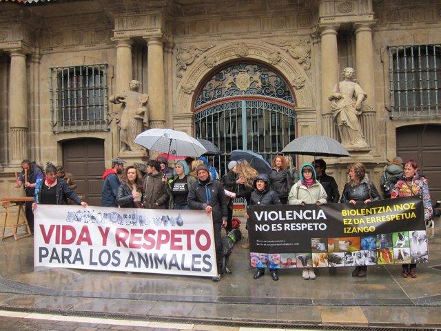 Concentración de Libertad Animal Navarra