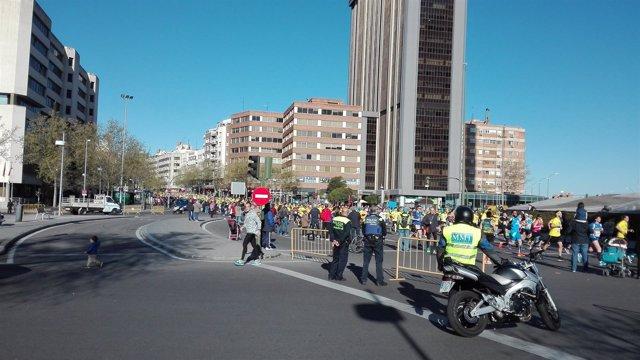 Imagen de la media maratón de Madrid