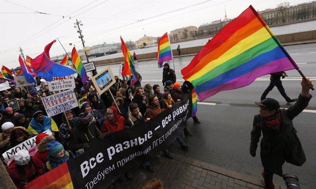 Marcha gay en Rusia