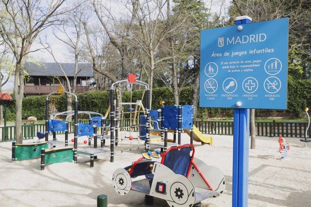 Imagen de un parque infantil de la ciudad de Madrid