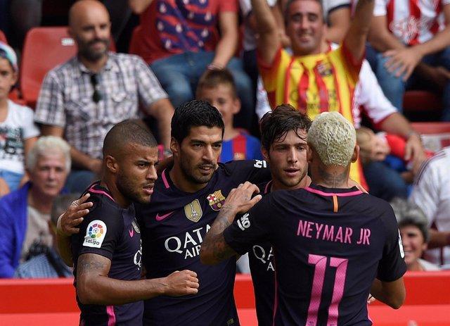 Rafinha Luis Suárez Sergi Roberto Neymar Barcelona