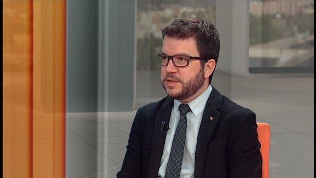 El secretario de Economía de la Generalitat, Pere Aragonès, en el 324
