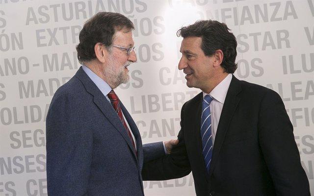 Mariano Rajoy y Biel Company en el Comité Ejecutivo del PP