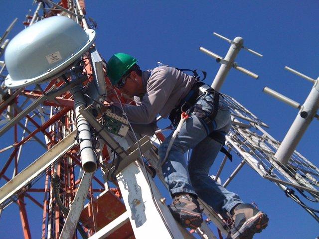 Técnico instalación cobertura 4g