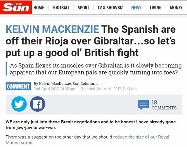 La prensa británica, sobre Gibraltar.