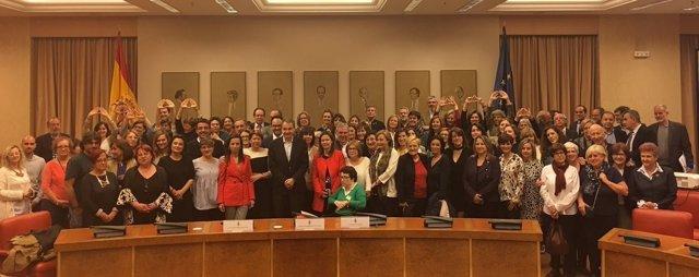 Foto de Familia X aniversario de la Ley de Igualdad en el Congreso