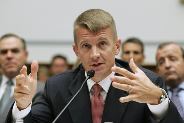 Blackwater USA Chief Executive Erik Prince testifies before the House Oversight