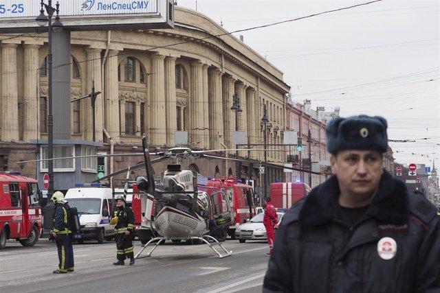 Explosión en el metro de San Petesburgo