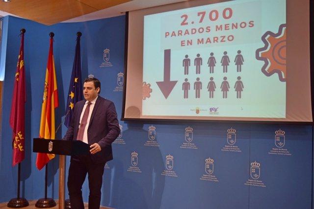 El director general del SEF, Alejandro Zamora, ha analizado los datos del paro