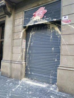 Agresión en la sede del PSC Barcelona