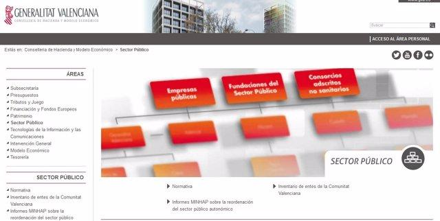 Web Conselleria de Hacienda