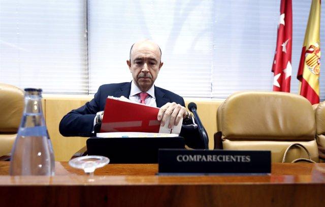 Manuel Lamela comparece en la Asamblea de Madrid