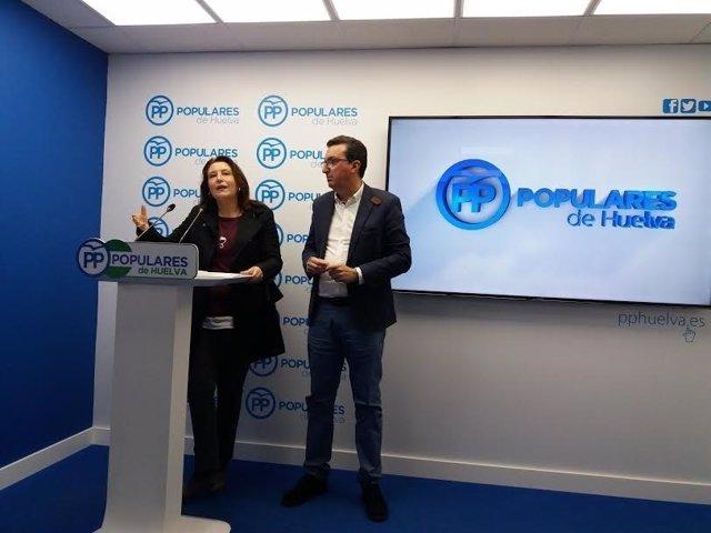 La portavoz del PP en el Parlamento andaluz, Carmen Crespo, en Huelva.