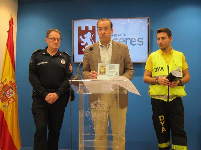 Presentación del dispositivo de seguridad de Semana Santa en Cáceres