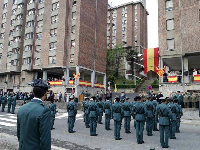 Toma de posesión del nuevo jefe de Comandancia de la Guardia Civil de Gipuzkoa