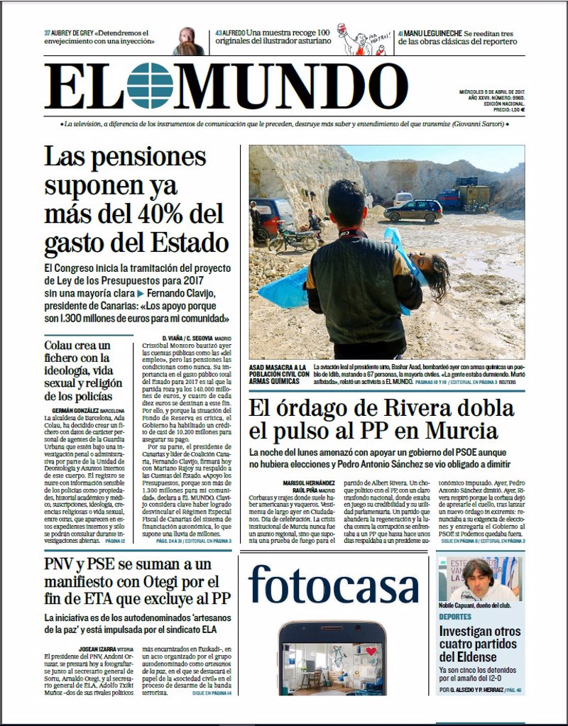 Las portadas de los peri dicos de hoy mi rcoles 5 de for Chimentos de hoy en argentina