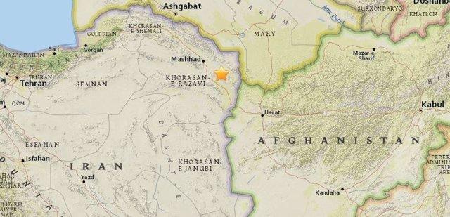 Terremoto de magnitud 6,1 en el noreste de Irán