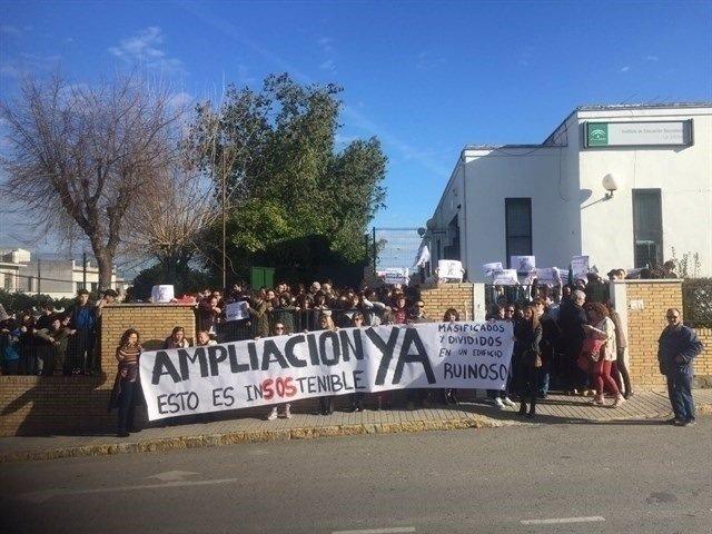 Una de las protestas del IES Las Encinas.