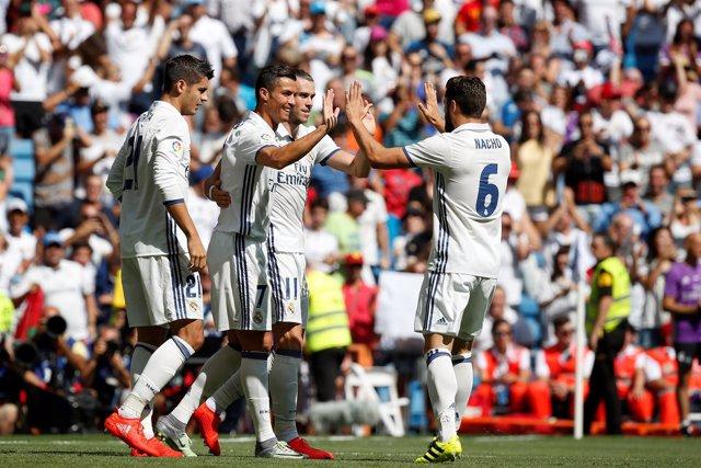 Real Madrid Cristiano Ronaldo Nacho Bale Morata