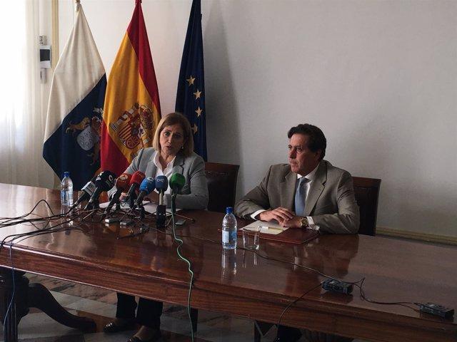 Rueda de prensa de Mercedes Roldós