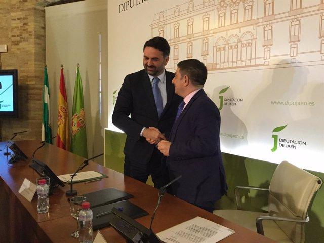 Firma del protocolo para el Olivo Arena