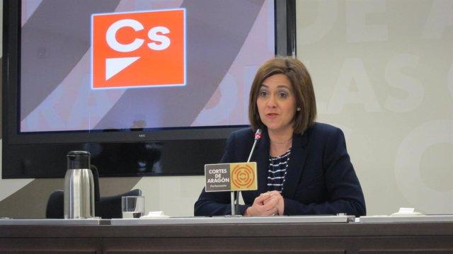 La portavoz de Cs en las Cortes de Aragón, Susana Gaspar