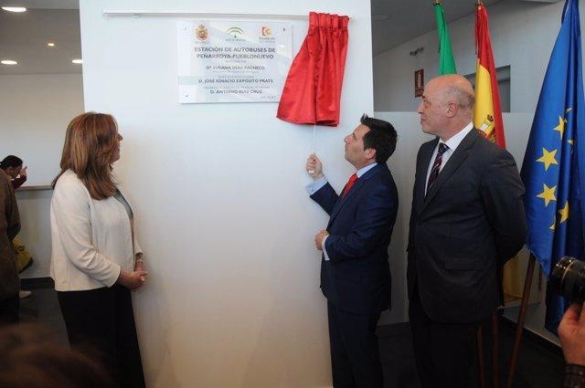 Díaz, Expósito y Ruiz inauguran la Estación de Autobuses de Peñarroya