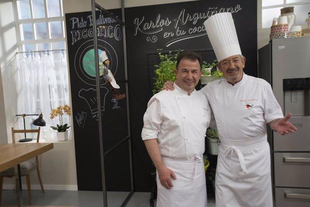 Martín Berasategui y Karlos Arguiñano