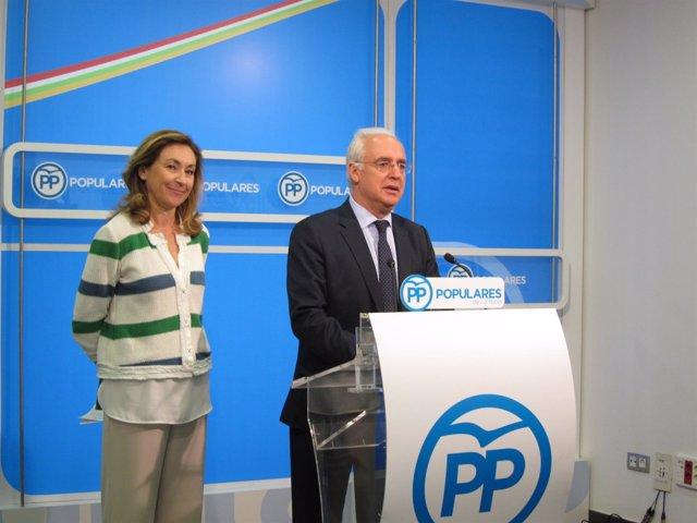 Ceniceros y Martín en comparecencia de prensa