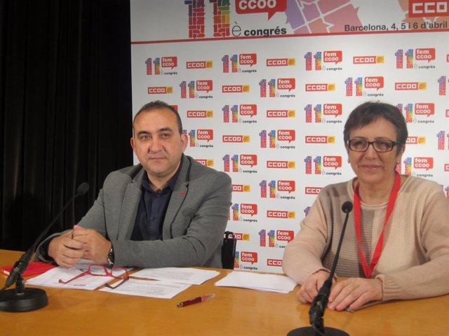 Javier Pacheco y Montse Ros, CC.OO.