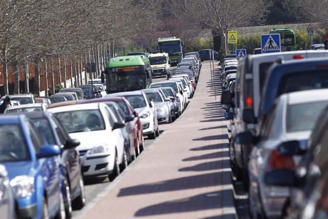 Tráfico, atasco, atascos en Madrid, coche, coches
